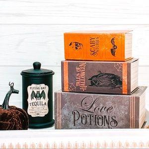 Halloween potions book decor set
